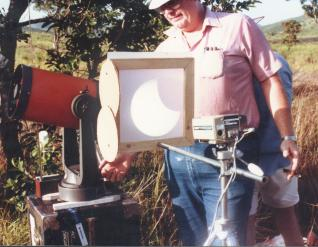 Celestron 8 projection, solar eclipse viewing safety