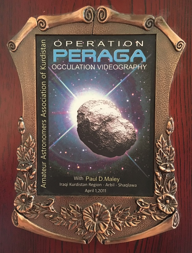 MY OCCULTATION PAGE – Paul D  Maley